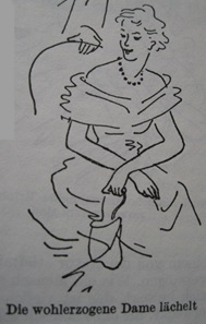 Oheim, Gertrud 1955: Einmaleins des guten Tons, Gütersloh, Bertelsmann Ratgeberverlag Reihnhard Mohn, Seite 35.