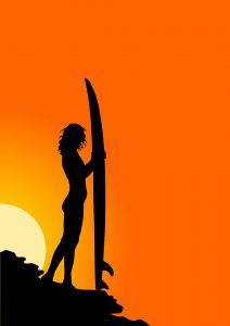 Surfen gilt noch immer als Männersport