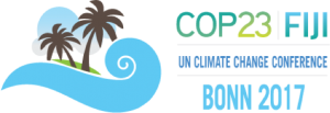Das offizielle Logo der COP23 in Bonn unter der Präsidentschaft von Fidschi