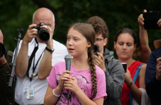 Greta Thunberg bei Fridays For Future - Von Leonhard Lenz - Eigenes Werk, CC0, https://commons.wikimedia.org/w/index.php?curid=80548263