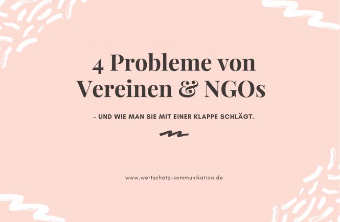 4 Probleme von NGOs und Vereinen