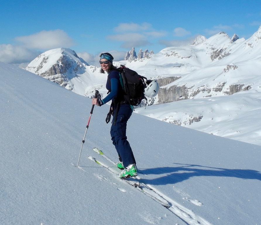 Michaela Brugger Coach beim Ski Fahren